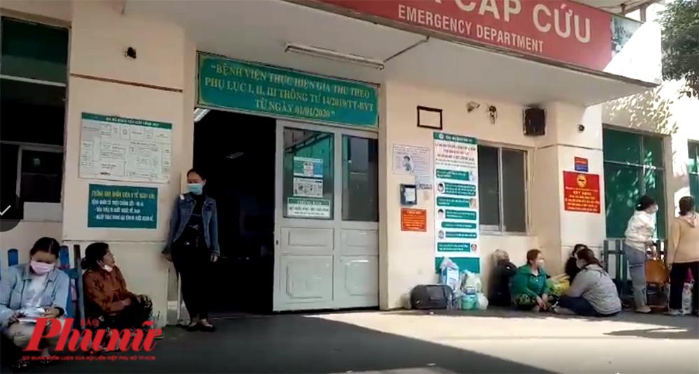 Khu vực cấp cứu của Bệnh viện nhân dân 115 vào ngày 18/4/2020. Ảnh: gia đình cung cấp