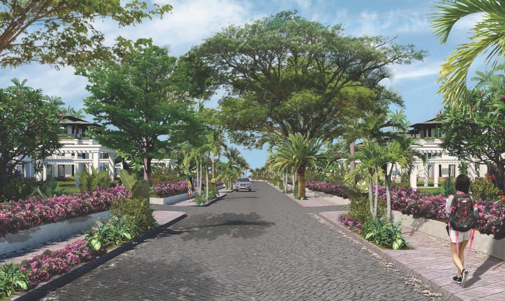 Không gian tràn ngập cây xanh tại Sunshine Heritage chăm sóc sức khỏe cho các thế hệ trong gia đình