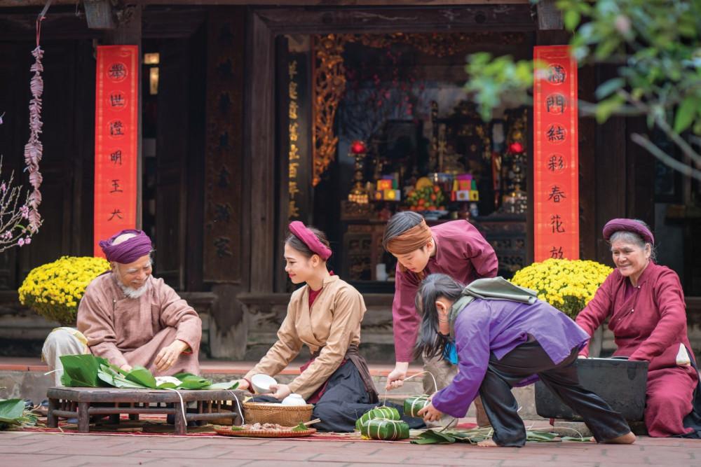 """Truyền thống Á Đông luôn bảo tồn nguyên vẹn những gia đình """"tam đại đồng đường"""". Ảnh: Sunshine Group cung cấp"""