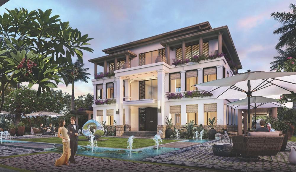 Biệt thự với thiết kế mở, chan hòa với thiên nhiên, diện tích lớn, đáp ứng nhu cầu sống của gia đình đa thế hệ