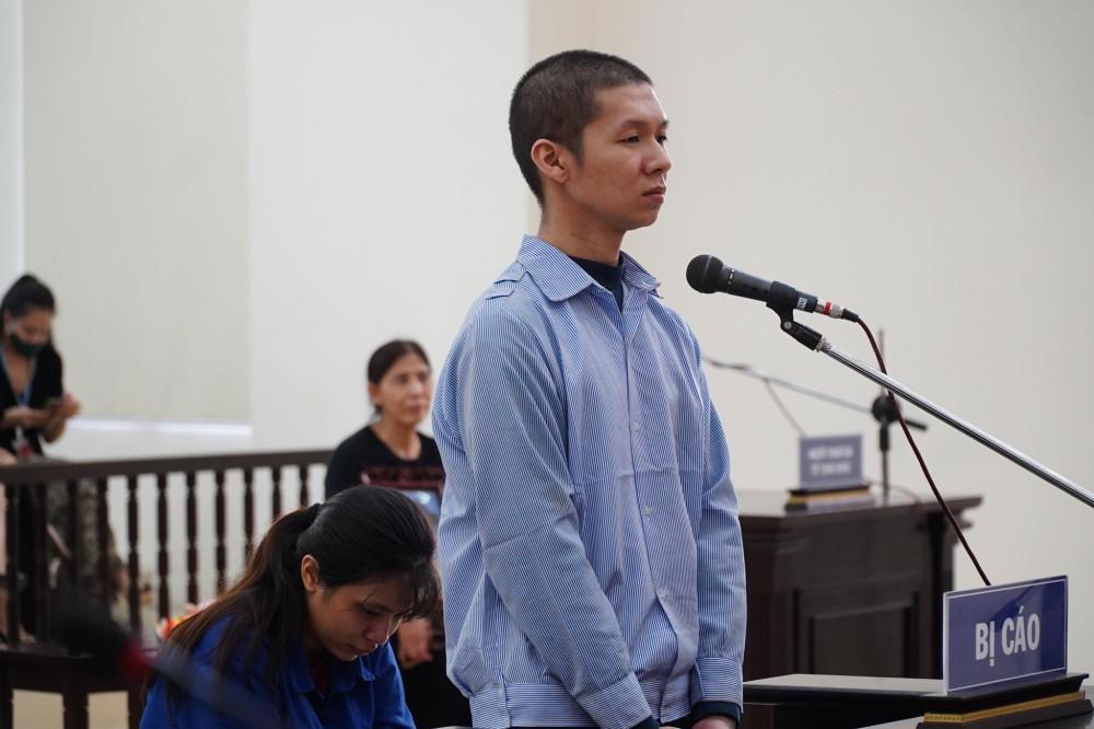 Hai bị cáo Nguyễn Minh Tuấn và Nguyễn Thị Lan Anh.