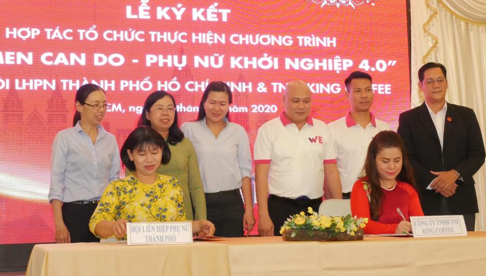 Hội LHPN TPHCM ký kết chương trình hợp tác hỗ trợ Phụ nữ khởi nghiệp 4.0