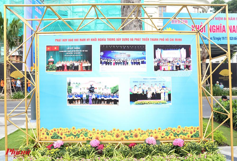 Tại công viên Lam Sơn, triển lãm cũng giới thiệu những thành tựu nổi bật của TPHCM trong giai đoạn xây dựng và phát triển
