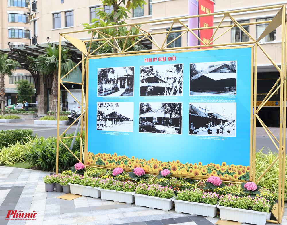 Tại khu vực công viên Lam Sơn, triển lãm diễn ra với chủ đề Khởi nghĩa Nam Kỳ - Khúc tráng ca sống mãi, giới thiệu những hình ảnh đấu