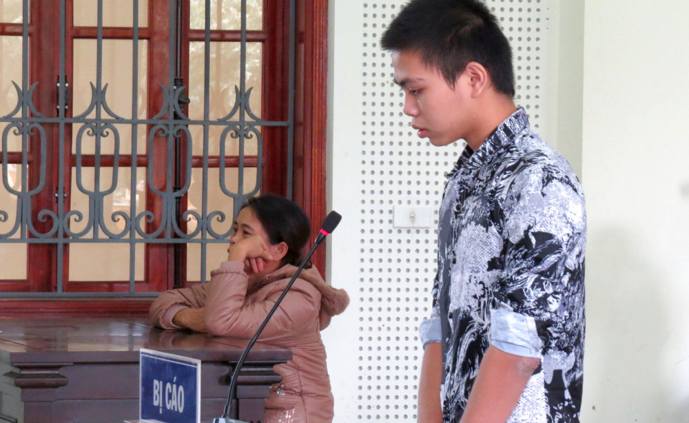 Bị cáo Đào Ngọc Hoàng tại phiên tòa