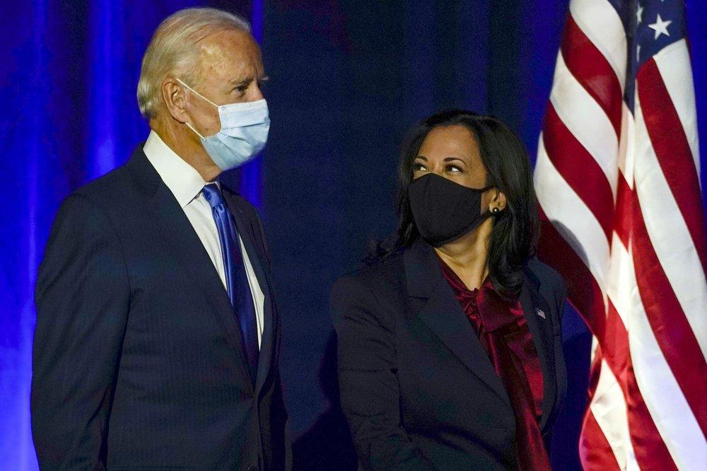 Ông Joe Biden và Thượng nghị sĩ Kamala Harris.