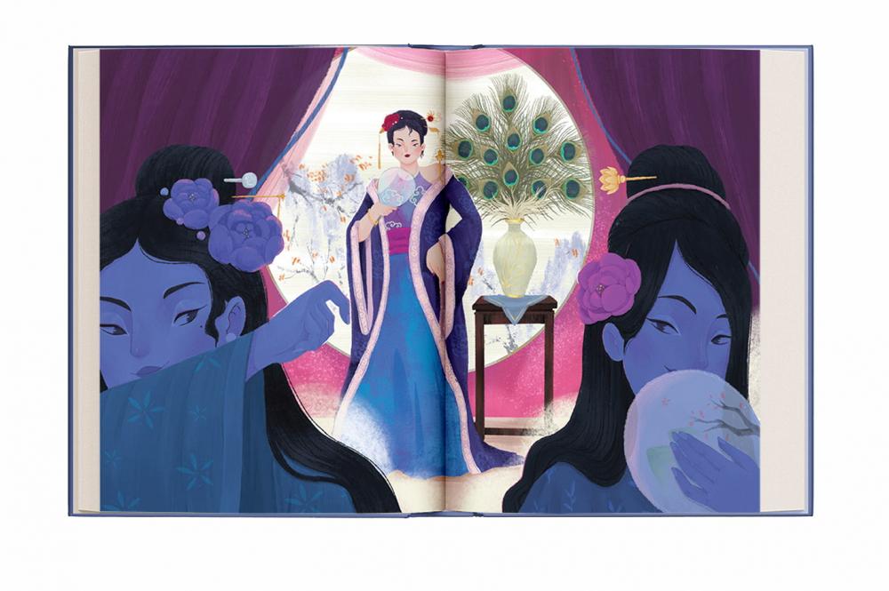Hình ảnh trong sách Truyện Kiều tự kể do Nhà xuất bản Kim Đồng ấn hành