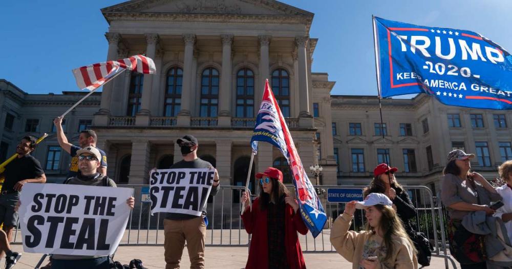 Những người ủng hộ ông Trump ở Georgia đe dọa phản đối Đảng Cộng hòa và tẩy chay bầu cử thượng viện tiểu bang vòng hai - Ảnh: Getty Images