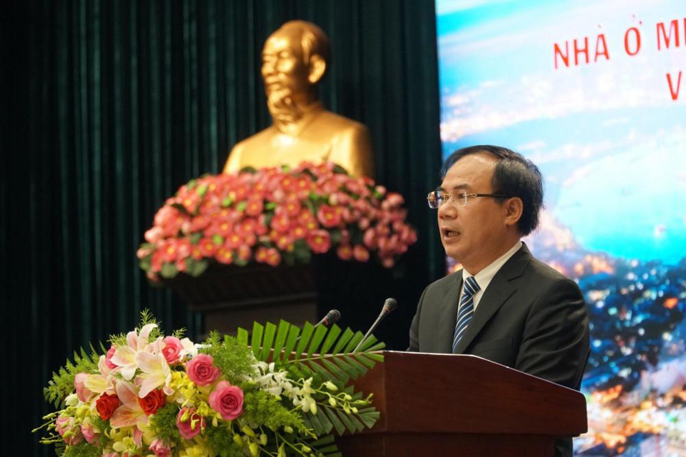 Ông Nguyễn Văn Sinh - Thứ trưởng Bộ Xây dựng phát biểu tại hội thảo