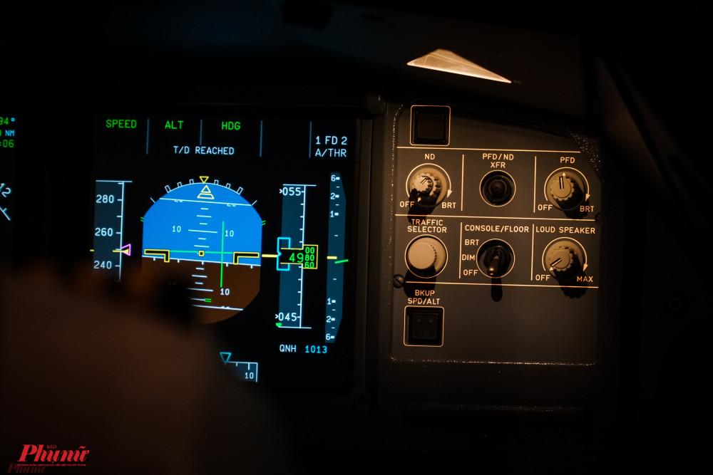 Hệ thống vận hành, máy móc bên trong buồng lái giả định.