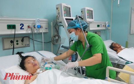 Bệnh nhân Nguyễn Thị T. diễn tiến nặng, đang được điều trị tại Bệnh viện Đa khoa Đồng Nai.
