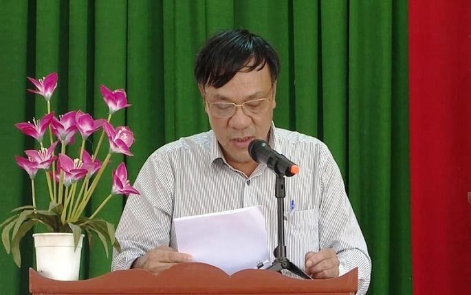 Ông Lê Trung Thành nguyên chủ tịch UBND huyện Tư Nghĩa bị kỷ luật khiển trách