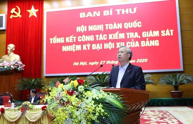 Trần Quốc Vượng, Ủy viên Bộ Chính trị, Thường trực Ban bí thư điều hành hội nghị. (Ảnh: Phương Hoa/TTXVN)