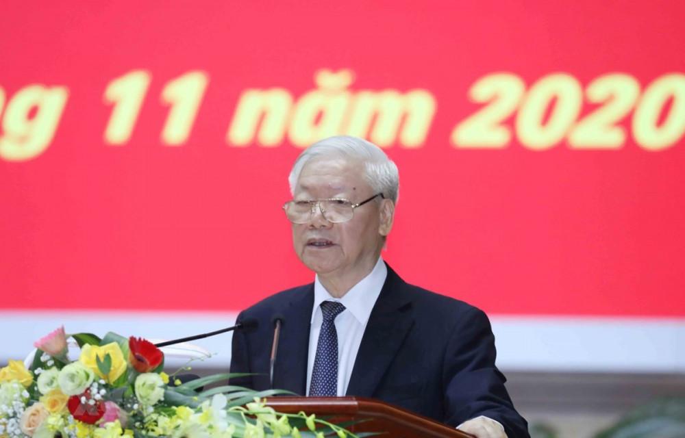 Tổng Bí thư, Chủ tịch nước Nguyễn Phú Trọng dự và phát biểu chỉ đạo Hội nghị - Ảnh: Phương Hoa/TTXVN)