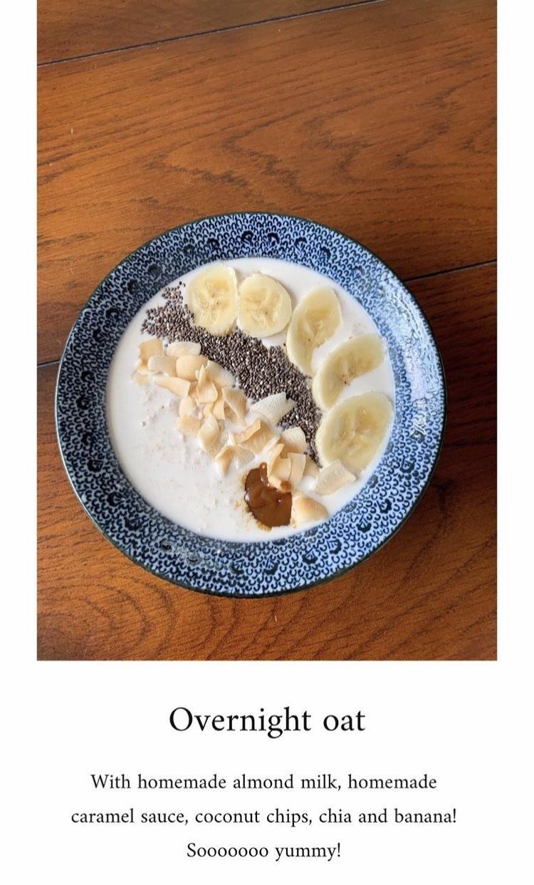 Sau khi nấu sữa hạt, Hà Tăng cũng sáng tạo thêm nhiều cách sử dụng khác mà không chỉ uống.