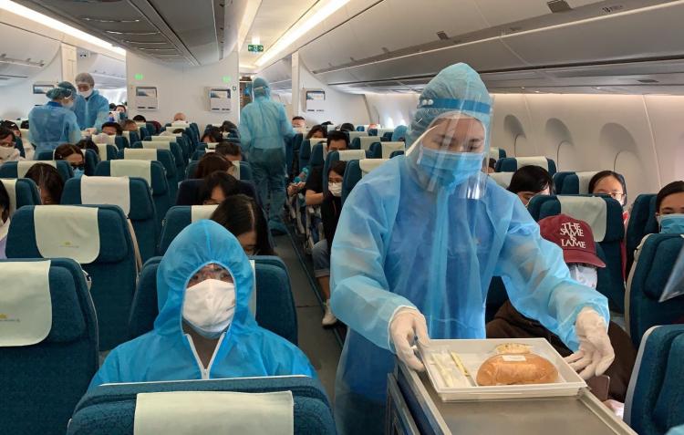 Các hãng hàng không của Việt Nam đã thực hiện nhiều chuyến bay đón công dân.