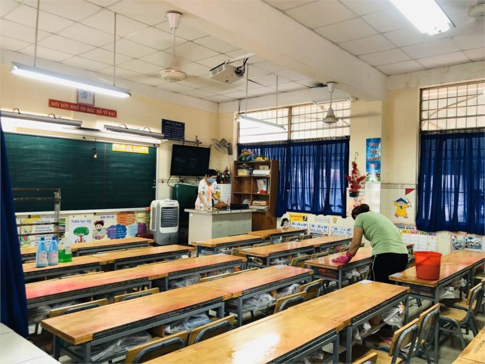 Trường tiểu học Nguyễn Huệ (quận 6) tạm nghỉ học trong hôm nay   Ảnh website trường