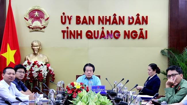 Hiện, UBND tỉnh Quảng Ngãi chỉ còn một phó chủ tịch là ông Võ Phiên