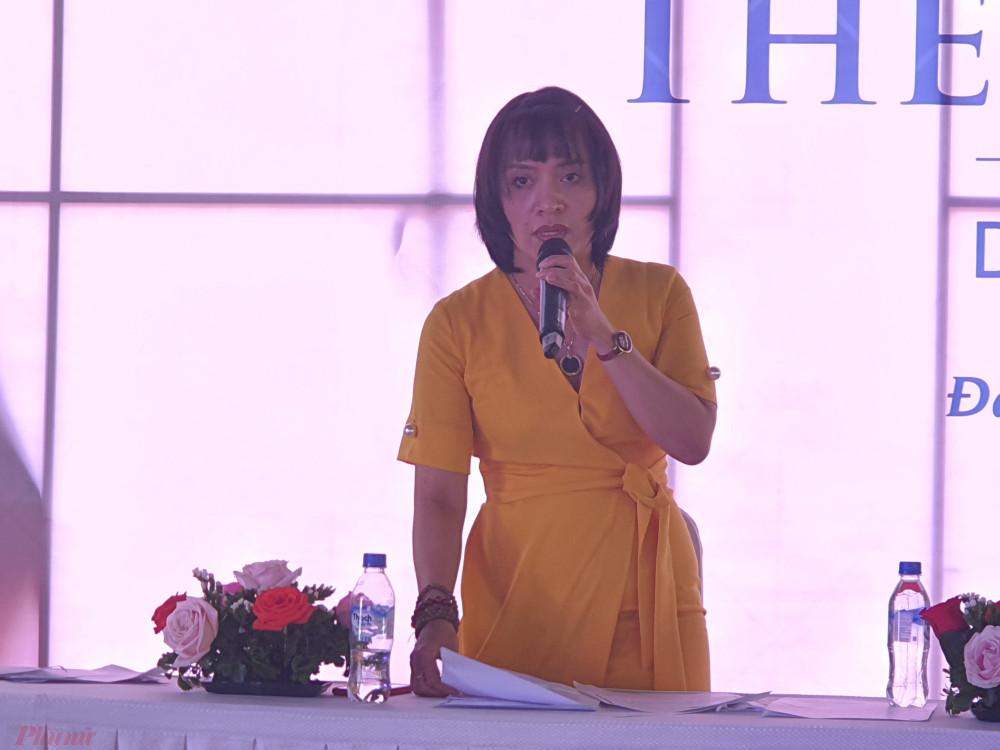 Bà Trần Thị Ngọc Hà - Tổng giám đốc Công ty cổ phần bất động sản Nova Đà Nẵng
