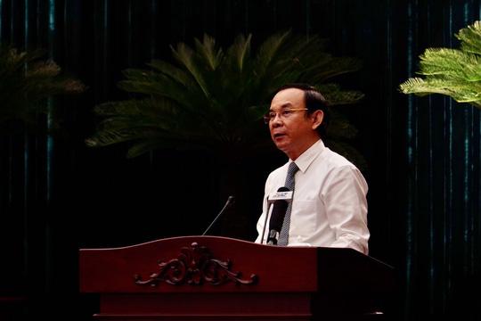 Bí thư Thành ủy TPHCM Nguyễn Văn Nên phát biểu bế mạc hội nghị