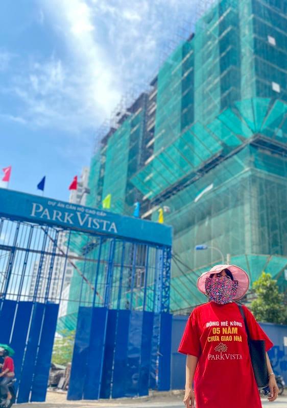 Dự án Park Vista trễ hẹn bàn giao nhà gần 2 năm nay, dự án dừng thi công khiến cư dân lo lắng