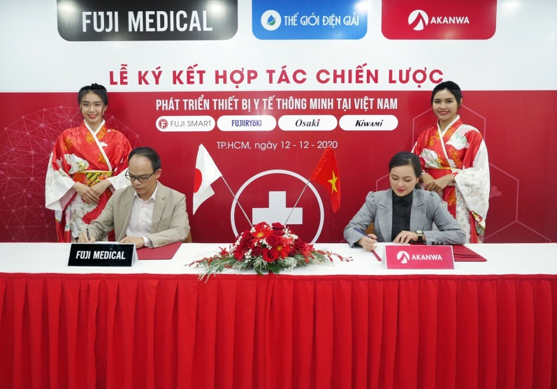 Fuji Medical và Akanwa ký kết hợp tác chiến lược. Ảnh: Fuji Medical Việt Nam cung cấp