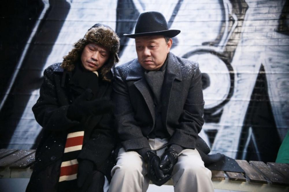 Nghệ sĩ Hoài Linh và cố nghệ sĩ Chí Tài trên phim Dạ cổ hoài lang, ra mắt năm 2017.