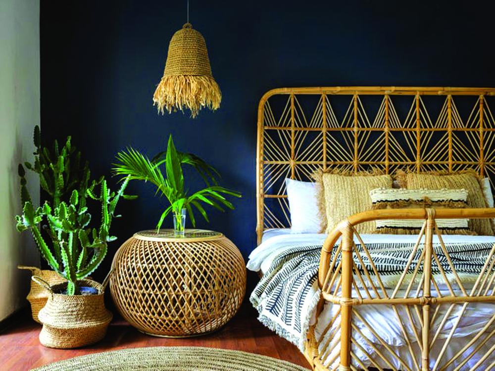 Một phòng ngủ theo phong cách trở về với thiên nhiên