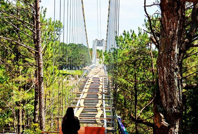 """Chiếc cầu đáy kính khổng lồ """"xây chui"""" ở Đà Lạt, xâm phạm danh thắng quốc gia Thung lũng tình yêu có thể sẽ được hợp thức hóa - Ảnh: TPO"""