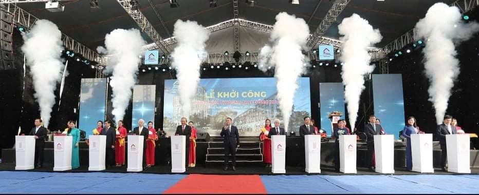 Lễ khởi công dự án Trung tâm thương mại Đồng Xoài - The Light City. Ảnh: Công ty Thành Phương cung cấp