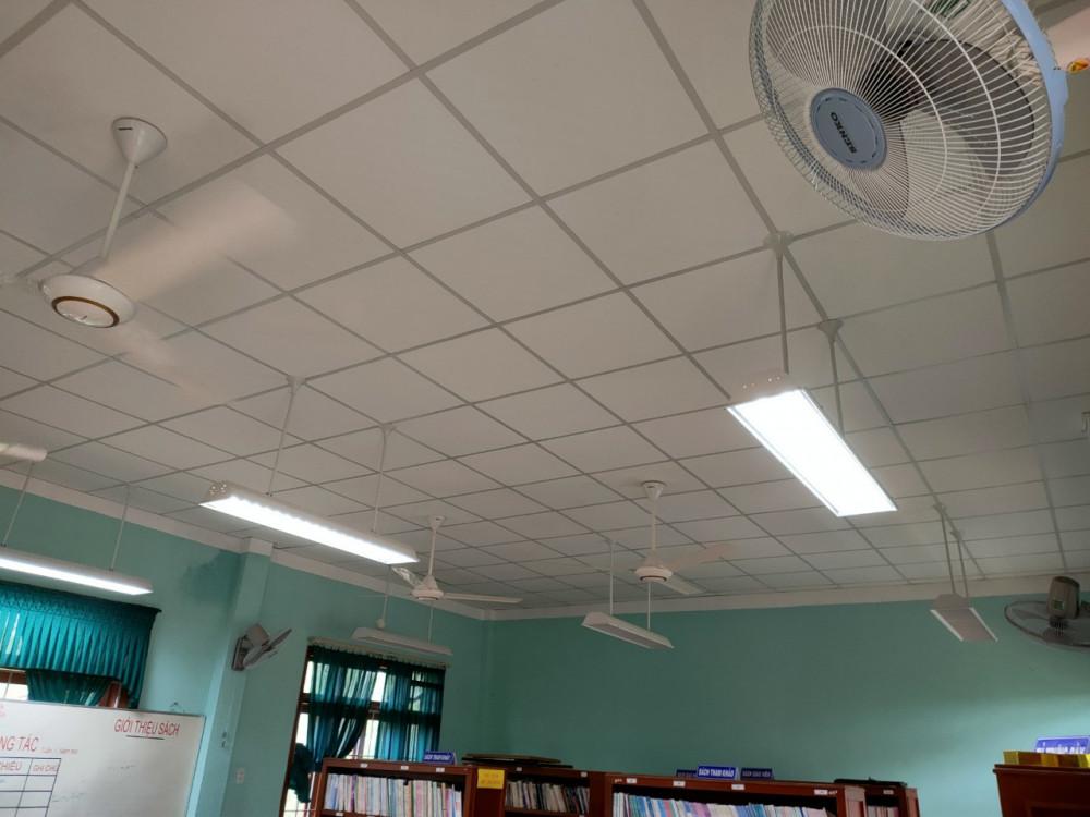 Tấm trần Vĩnh Tường Ánh Kim được thi công hoàn thiện tại một số cơ sở