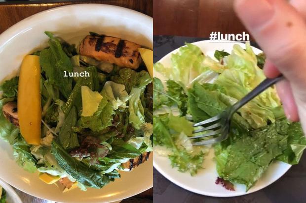 nữ ca sĩ tập trung vào chế độ ăn healthy, hạn chế tinh bột, chủ yếu là salad với các loại rau xanh vừa giúp bổ sung vitamin lại giữ vóc dáng thon thả.
