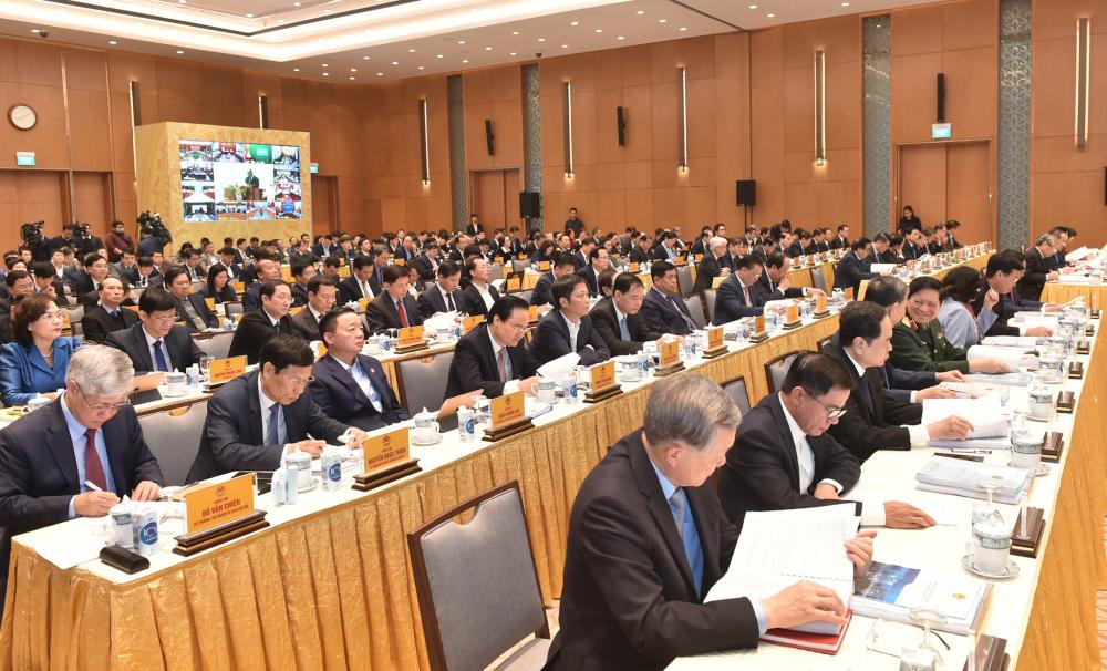 Hội nghị trực tuyến Chính phủ diễn ra trong 2 ngày 28 và 29/12. (Ảnh: VGP)