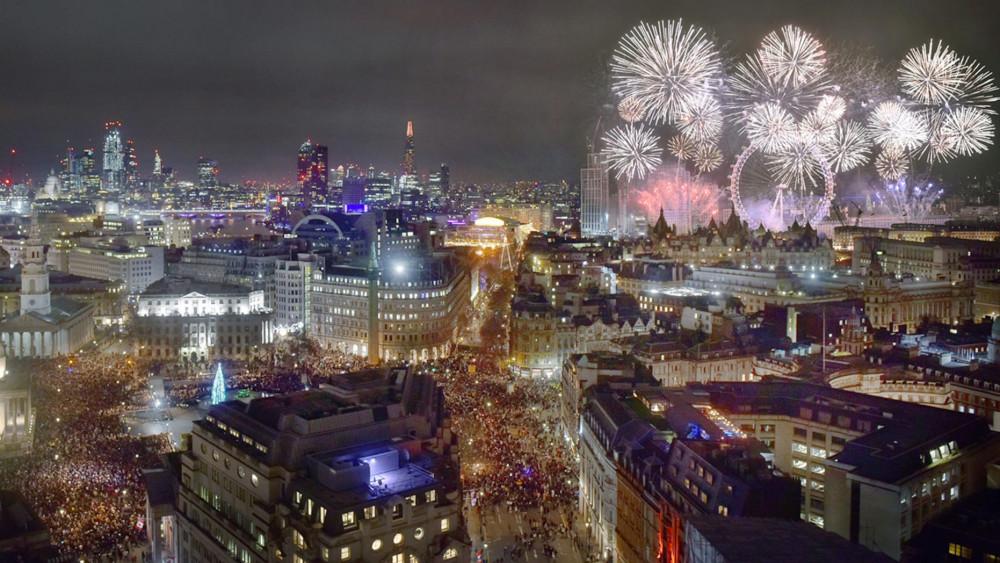 Cảnh vật London vào đêm mừng năm mới