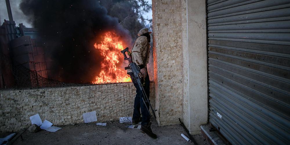 Các đơn vị của Chính phủ Hiệp ước Quốc gia được Liên hợp quốc công nhận tham gia Chiến dịch Bão táp Hòa bình chống lại dân quân của lãnh chúa Khalifa Haftar ở Libya