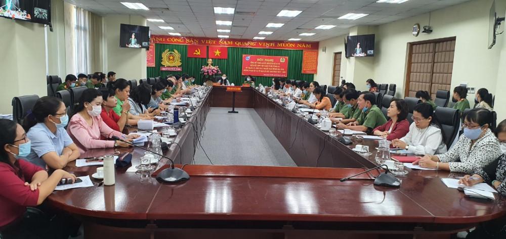 Hai đơn vị Phụ nữ và Công an TPHCM tham gia hội nghị tổng kết 3 năm thực hiện Nghị quyết liên tịch số 01/TW tại điểm cầu TPHCM