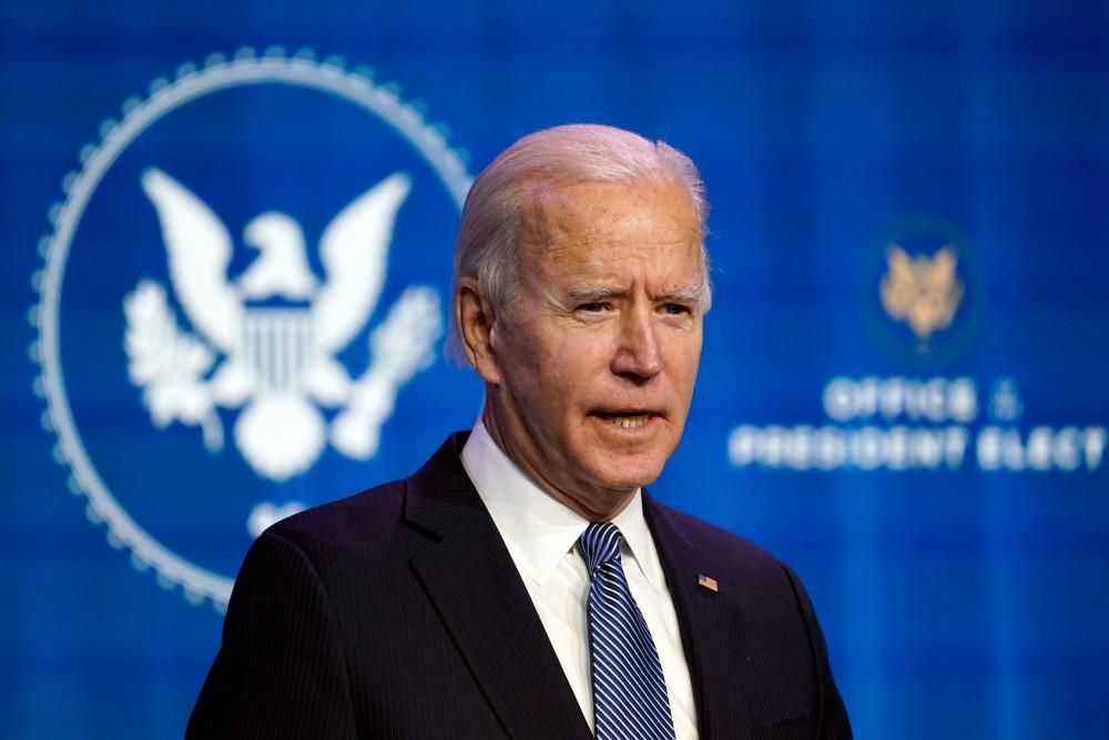 Tổng thống đắc cử Joe Biden phát biểu trong một sự kiện tại nhà hát The Queen ở Wilmington, Delaware