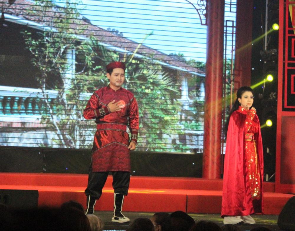 Thí sinh Trần Văn Vịnh có vóc dáng cao, sáng sân khấu, đạt hạng 3.