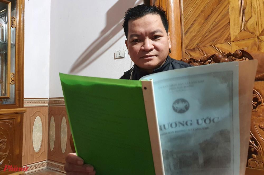 Hương ước bản Boong được viết thành nhiều cuốn, chia cho những người cao niên trong bản giữ