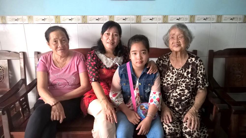 Bà Thịnh có tuổi già bình yên bên con cháu