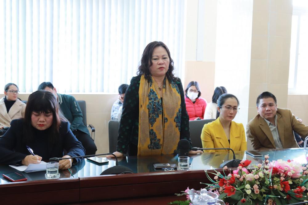 Thứ trưởng Ngô Thị Minh phát biểu tại buổi làm việc