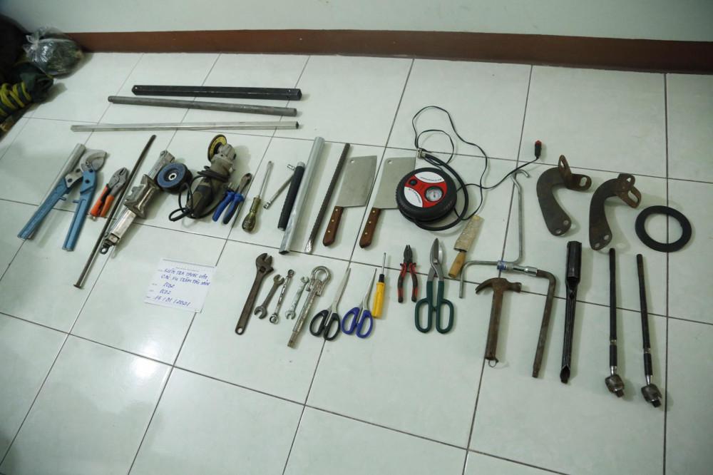 Dụng cụ băng nhóm dùng để thực hiện các vụ trộm