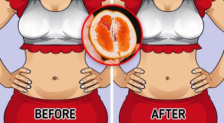 Bưởi cung cấp cho bạn thêm năng lượng và định hình vòng eo. Bưởi có chứa nootkatone, là hợp chất hóa học có thể thúc đẩy quá trình trao đổi chất và thúc đẩy giảm cân. Chúng cũng giàu chất xơ, giúp bạn no lâu và có thể giúp cân bằng lượng đường trong máu. Cơ sở của phương pháp detox bưởi là nguyên tắc vàng của bưởi: thưởng thức nửa quả bưởi với mỗi bữa ăn trong một tuần để có thêm một lượng chất dinh dưỡng như chất xơ và vitamin A và C.