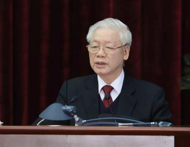 Tổng bí thư, Chủ tịch nước Nguyễn Phú Trọng phát biểu bế mạc Hội nghị - Ảnh: TTXVN