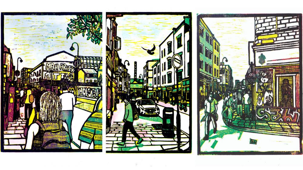 Một vài tác phẩm trong triển lãm From Brick Lane to Saigon sắp tới của Jack.