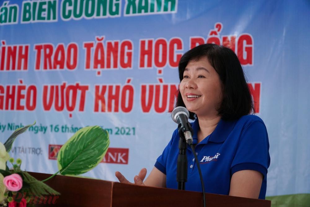 Bà Lý Việt Trung chia sẻ về dự án 'Biên cương xanh của Báo Phụ Nữ TPHCM