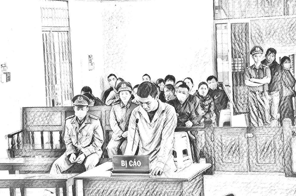 Bị cáo Hùng tại phiên tòa