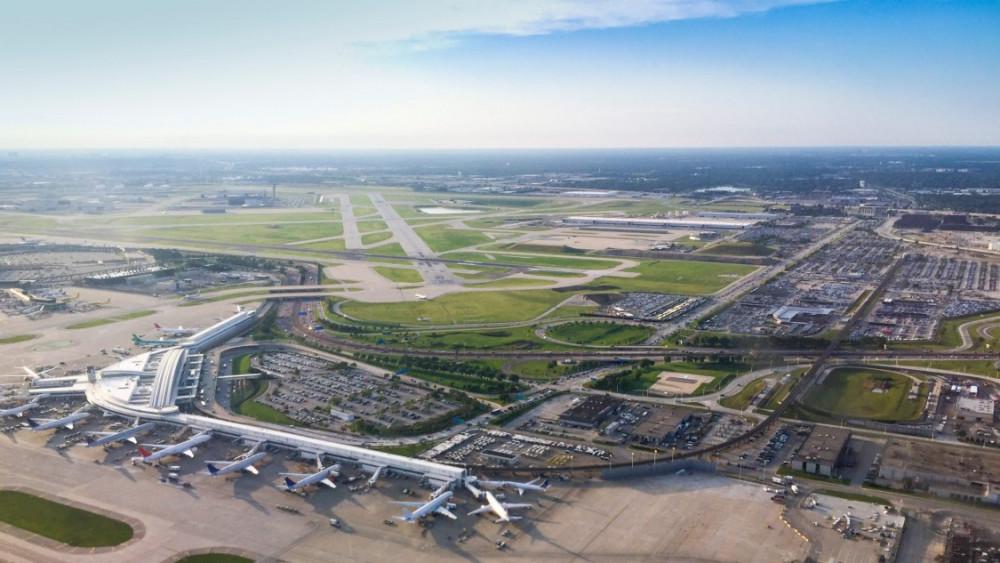 Quang cảnh sân bay quốc tế O'Hare rộng lớn tại thành phố Chicago