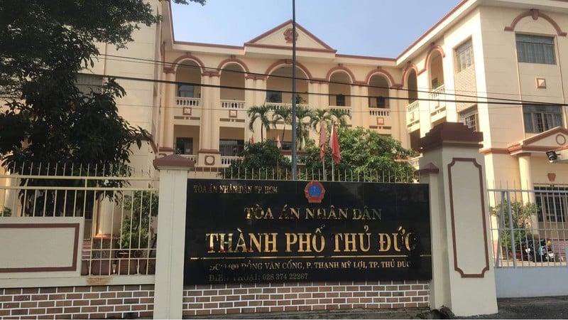 Hiện trụ sở TAND quận 2 đã được đổi tên thành TAND TP. Thủ Đức