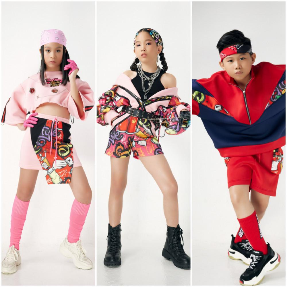 Gần đây, những bộ trang phục đạm chaats hiphop được các em thiếu nhi ưa chuộng.